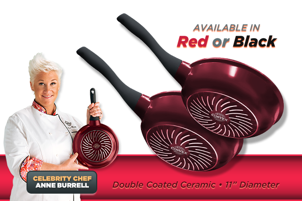 Available in Red. Celebrity Chef Anne Burrell.