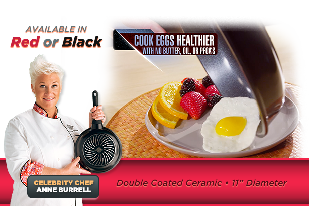 Available in Black. Celebrity Chef Anne Burrell.